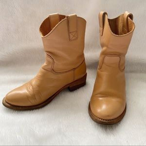 Sergio Rossi Leather Cowboy Ankle Boots